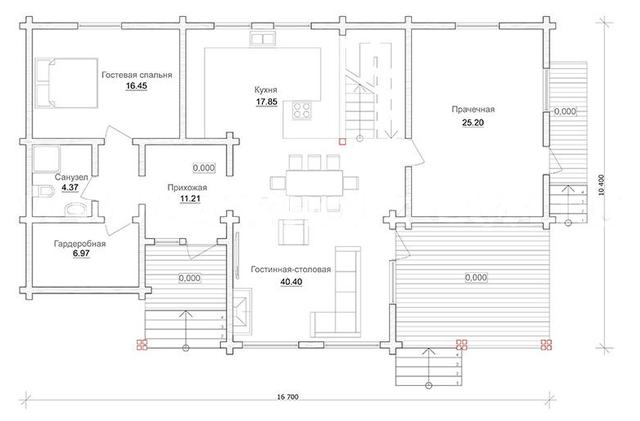план одноэтажного деревянного дома из бруса, проект и строительство одноэтажного деревянного дома