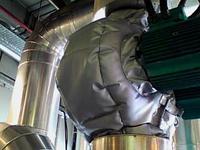 Термочехол на спаренный циркуляционный насос отопления промышленного кондиционера