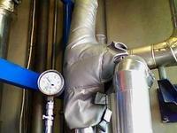 Термочехол на предохранительно-сбросной клапан пара