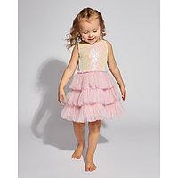 Платье с пайетками для девочки MINAKU, рост 122, цвет розовый
