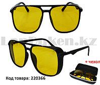 Очки солнцезащитные водительские с черной глянцевой оправой антиблик (POLAROID) Graffito Polaroid GR3148 С1