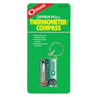 ZIPPER PULL THERM/COMPASS-брелок с термометром