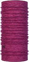 Buff Wool lightweight Raspberry Multi Stripes