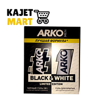 ARKO BLACK&WHITE Подарочный набор гель для душа BLACK 260мл.+гель для душа WHITE 260мл. 509110