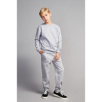 Костюм для мальчика (джемпер, брюки), цвет светло-серый меланж, рост 116 см