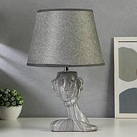 Лампа настольная 21163/1 E14 40Вт серый 19,5х19,5х38 см