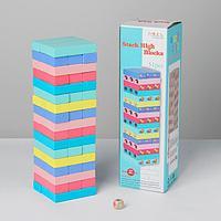 Игра настольная «Дженга цветная» 51 шт, 28,5х8,5х8 см