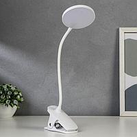 Лампа настольная сенсорная 16109/1 LED 4Вт USB АКБ 3000/6000К белый 9,5х12х44 см