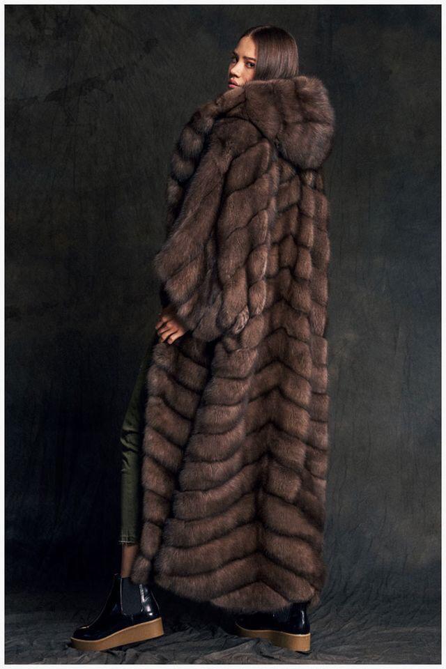 Шуба из баргузинского соболя - фото 6