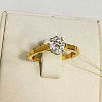 Кольцо с бриллиантом / 17 размер
