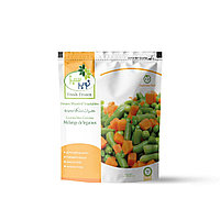 Овощной микс (зеленый горошек, морковь и стручковая фасоль) 24п * 400г