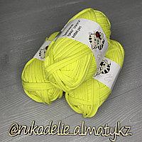 Трикотажная пряжа для ручного вязания лимонный