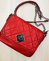 Кожаная красная сумка (KARYA)