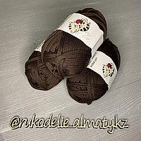 Трикотажная пряжа для ручного вязания шоколад