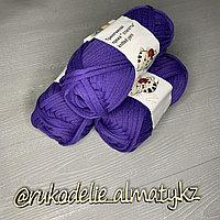 Трикотажная пряжа для ручного вязания фиолетовый