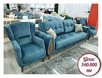 Набор мягкой мебели в ретро стиле на заказ (разнообразие цветов и тканей)