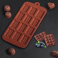 Форма для льда и шоколада «Плитка», 21×11 см