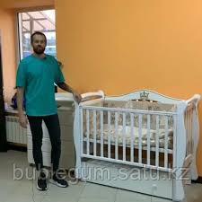 """Кровать детская """"Julia-11"""" Корона с маятником и ящиком"""