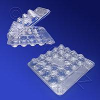 РОССАНПАК Упаковка для перепелиных яиц 15,5х15,5х4,0см 18ячеек d2,8см