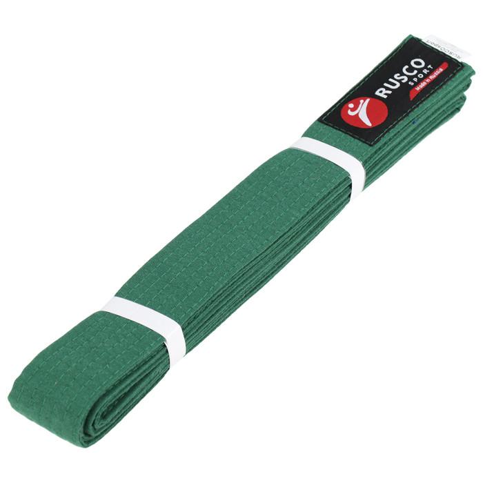Пояс для карате 2.6 м RUSCO SPORT зелёный