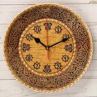 Часы 'Рябина', D25 см, береста