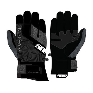 Перчатки 509 Freeride с утеплителем, серый, чёрный, 3XL
