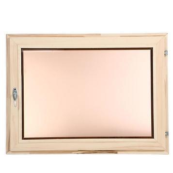 Окно, 60×80см, двойной стеклопакет, тонированное, из липы