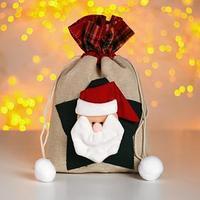 Мешок для подарков 'Новогодний', со звездой, виды МИКС