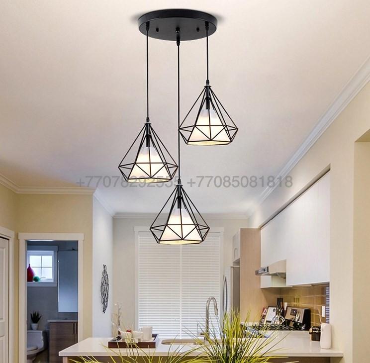 Потолочный светильник современный Лофт черный