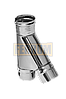 Тройник 135°, Ø115, 0,8 мм, нерж