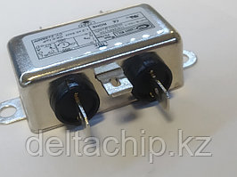Фильтр питания 10А  220VAC малогабаритный c заземлением