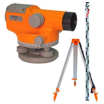 Оптический нивелир Геокурс GTX 32 + штатив + рейка
