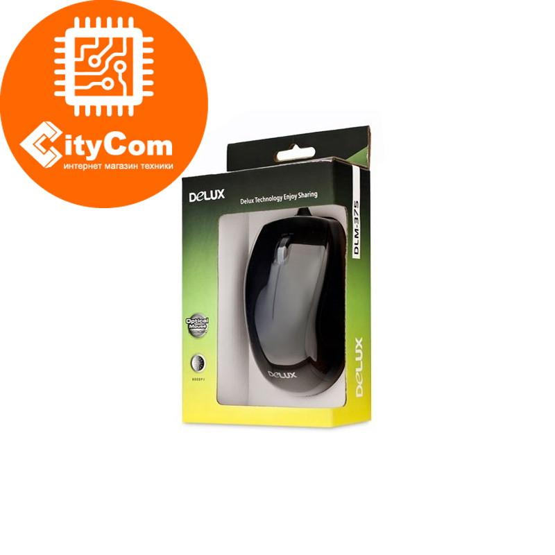 Мышь, Delux, DLM-375OTB, 3D, Оптическая 800dpi, USB+PS/2 Арт.2040