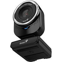 GENIUS QCam 6000, black, Full-HD 1080p webcam, universal clip, 360 degree swivel, USB, built-in microphone,