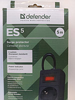 Фильтр сетевой Defender  шнур   5м