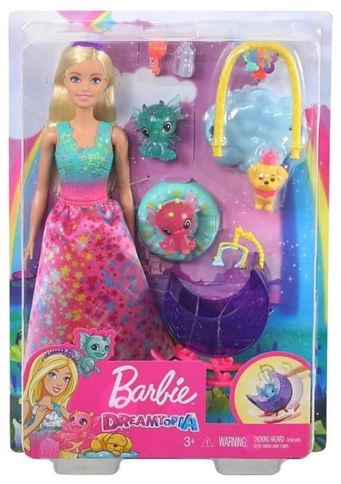 Кукла Barbie Dreamtopia Заботливая принцесса Питомник драконов - фото 1