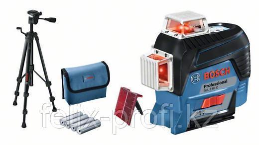 Лазерный нивелир BOSCH GLL 3-80 C (AA) + BT 150 + вкладка для L-boxx