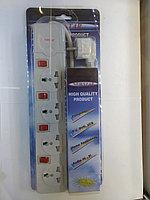 Удлинитель сетевой с индивид выкл 3розетки 3метра