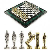 """Подарочные шахматы """"Великая Отечественная война"""" доска 47х47 см из змеевика"""