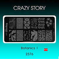 Пластина для стемпинга Crazy story Botanics, фото 1