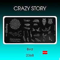 Пластина для стемпинга Crazy story Bird