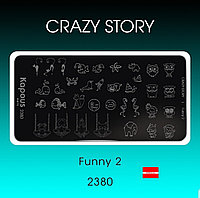 Пластина для стемпинга Crazy story Funny