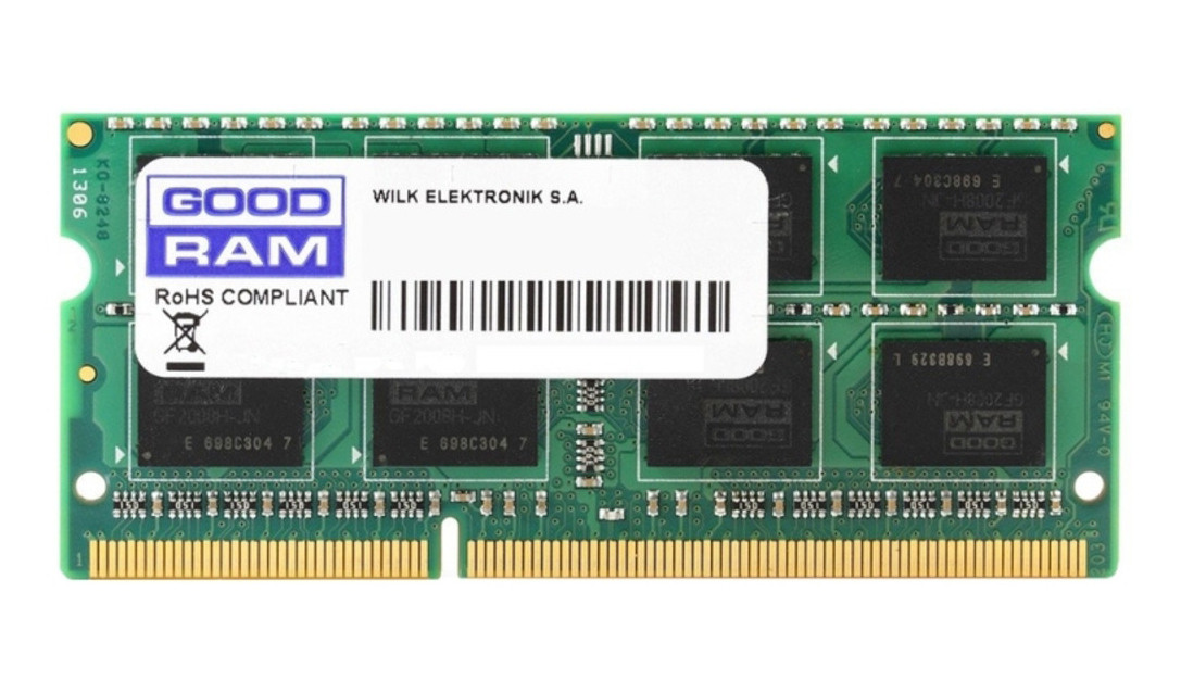 Оперативная память для ноутбука GOODRAM PC4-21300 8GB (DDR4 2666Mhz SODIMM, GR2666S464L19S/8G)