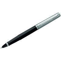 Ручка роллер Parker чёрный 0,8мм корпус цв.пласт./нержав.сталь, полировка, клип, футляр арт.R2096907