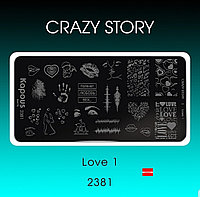 Пластина для стемпинга Crazy story Love