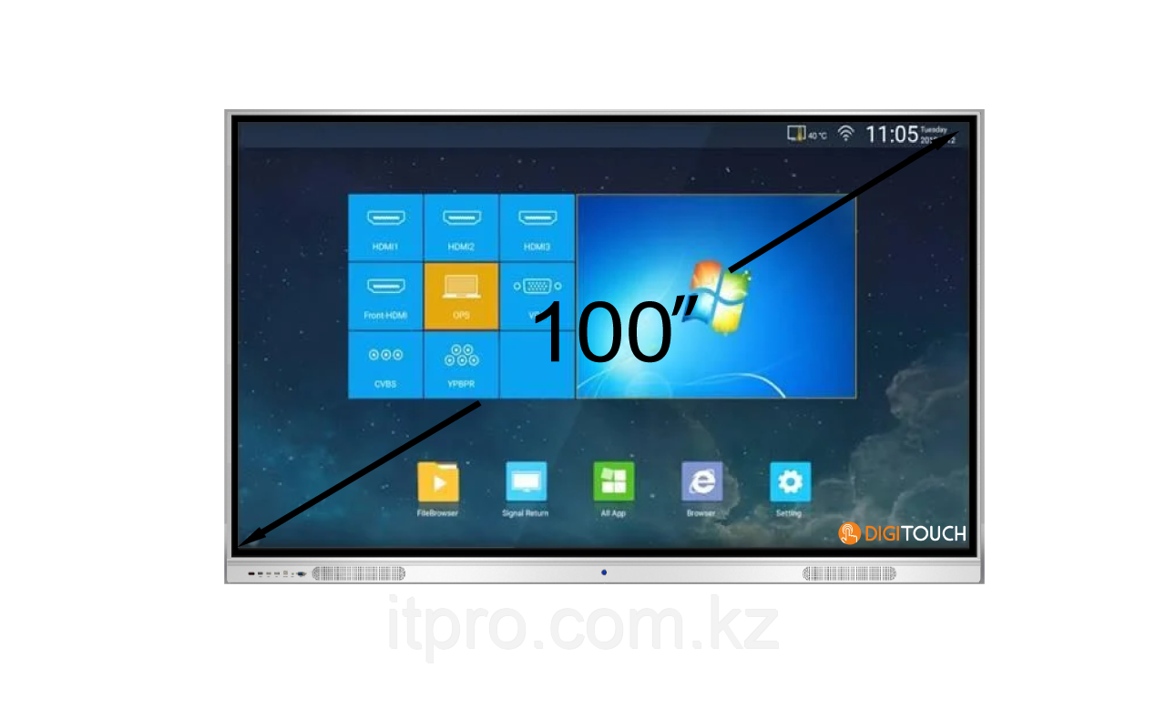 Интерактивная панель DigiTouch DTIP100SM10A50ALG