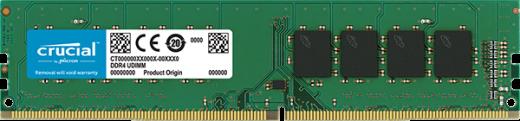 Оперативная память Crucial PC4-19200 8GB (DDR4 2400 MHz Unbuffered NON-ECC 1.2V, CT8G4DFS824A)