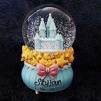 """Музыкальный снежный шар Замок """"Sky Love"""", 16см., фото 1"""