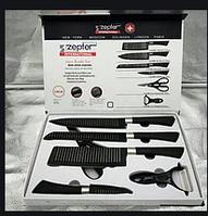 Черный набор кухонных ножей Zepter