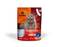Murkel, Муркель силикагелевый наполнитель для кошек с ароматом клубники, уп.10л (4,5кг)